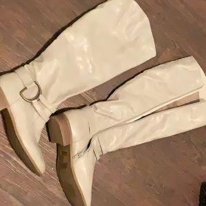 Ivory Calf-High Boots